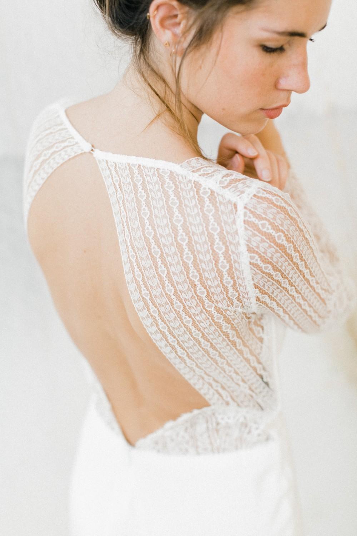 robe de mariage dentelle moderne nantes