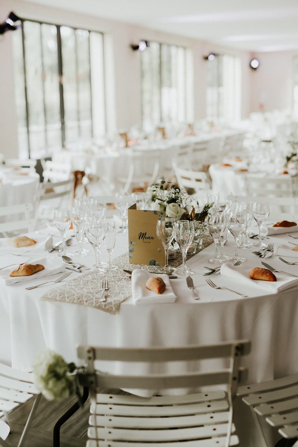 decoration de table mariage boheme chic blanc