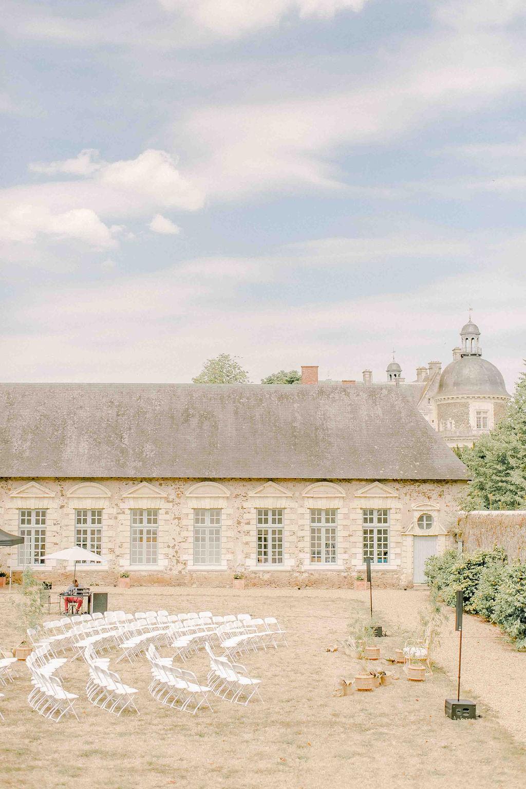 mariage château moderne boheme ceremonie laique