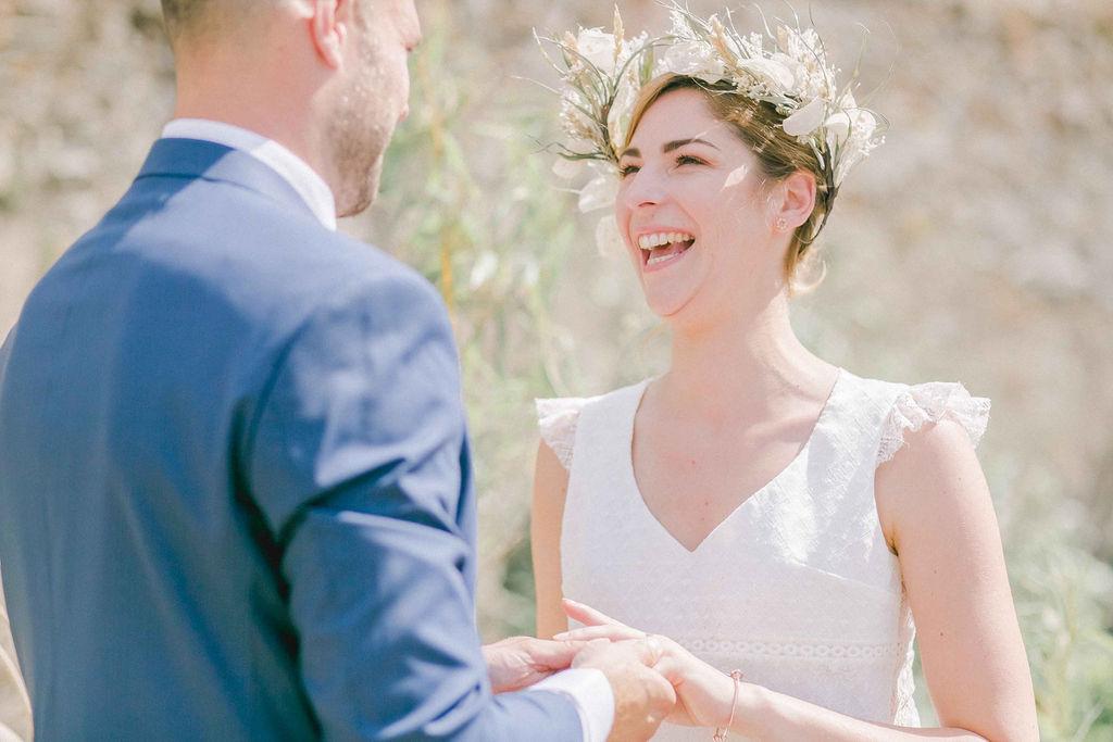 couronne fleurs séchées mariage