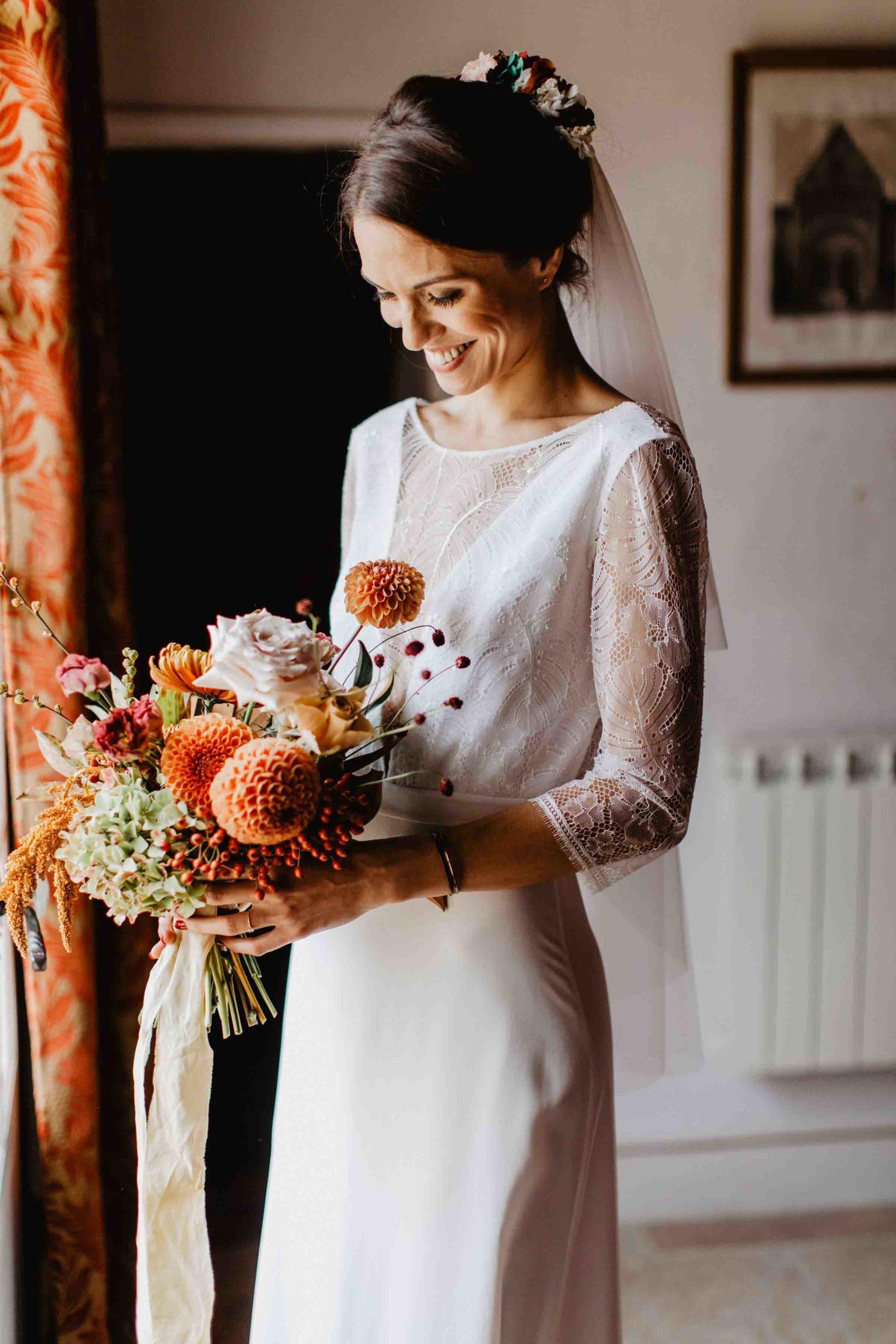 mariage automnal pays de la loire robe de mariée