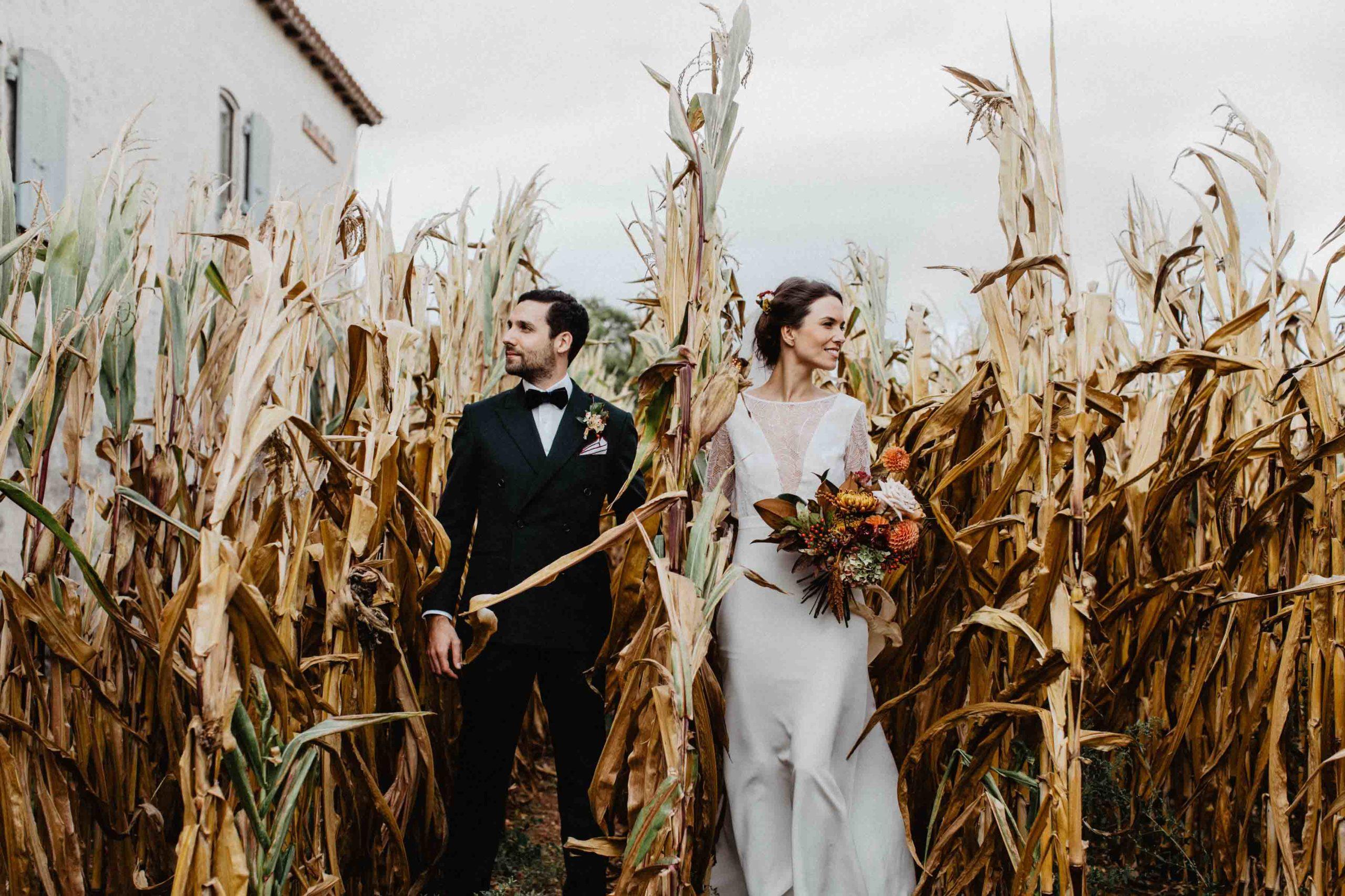 mariage automnal pays de la loire bouquet de fleurs