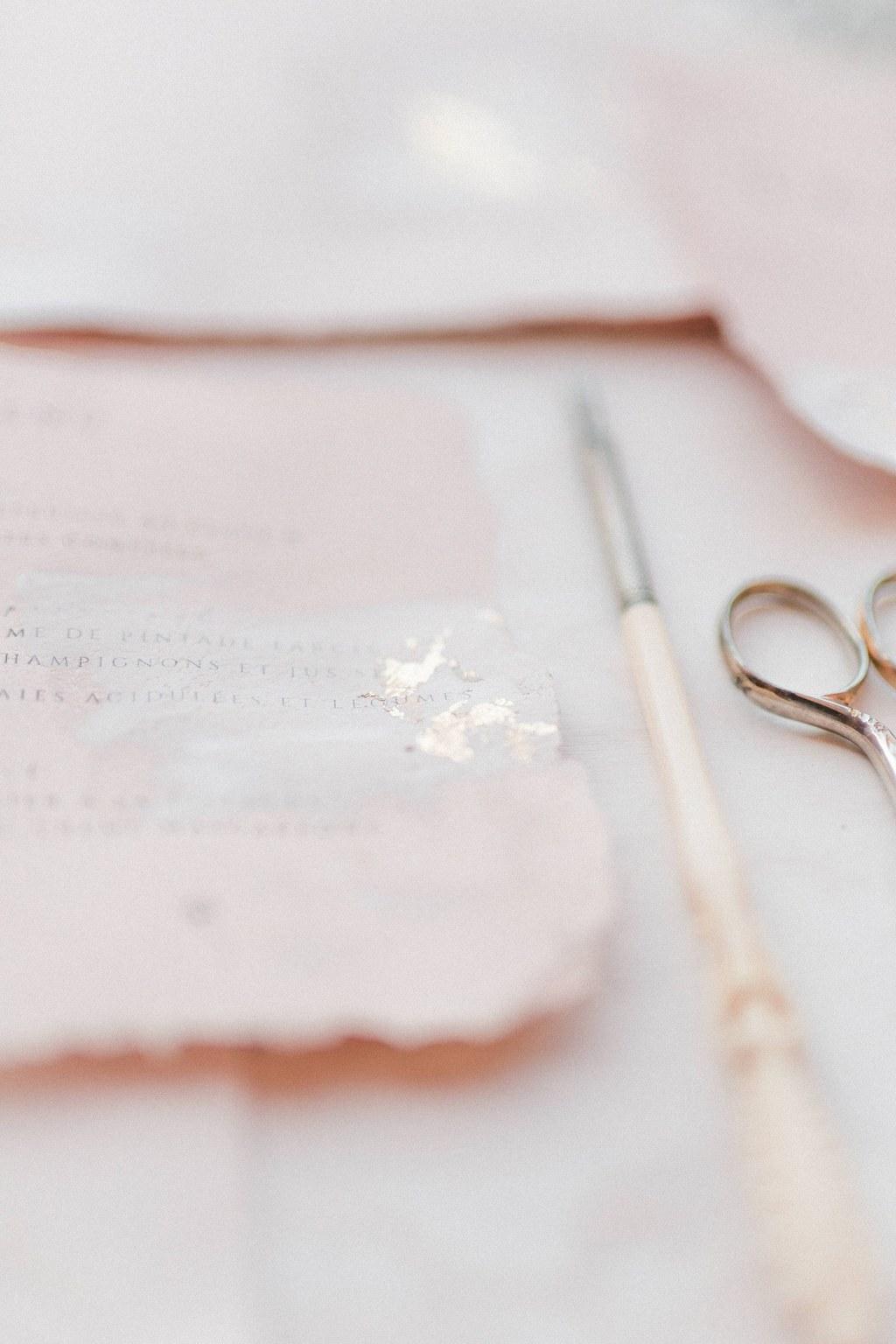 papeterie de mariage romantique chic création main
