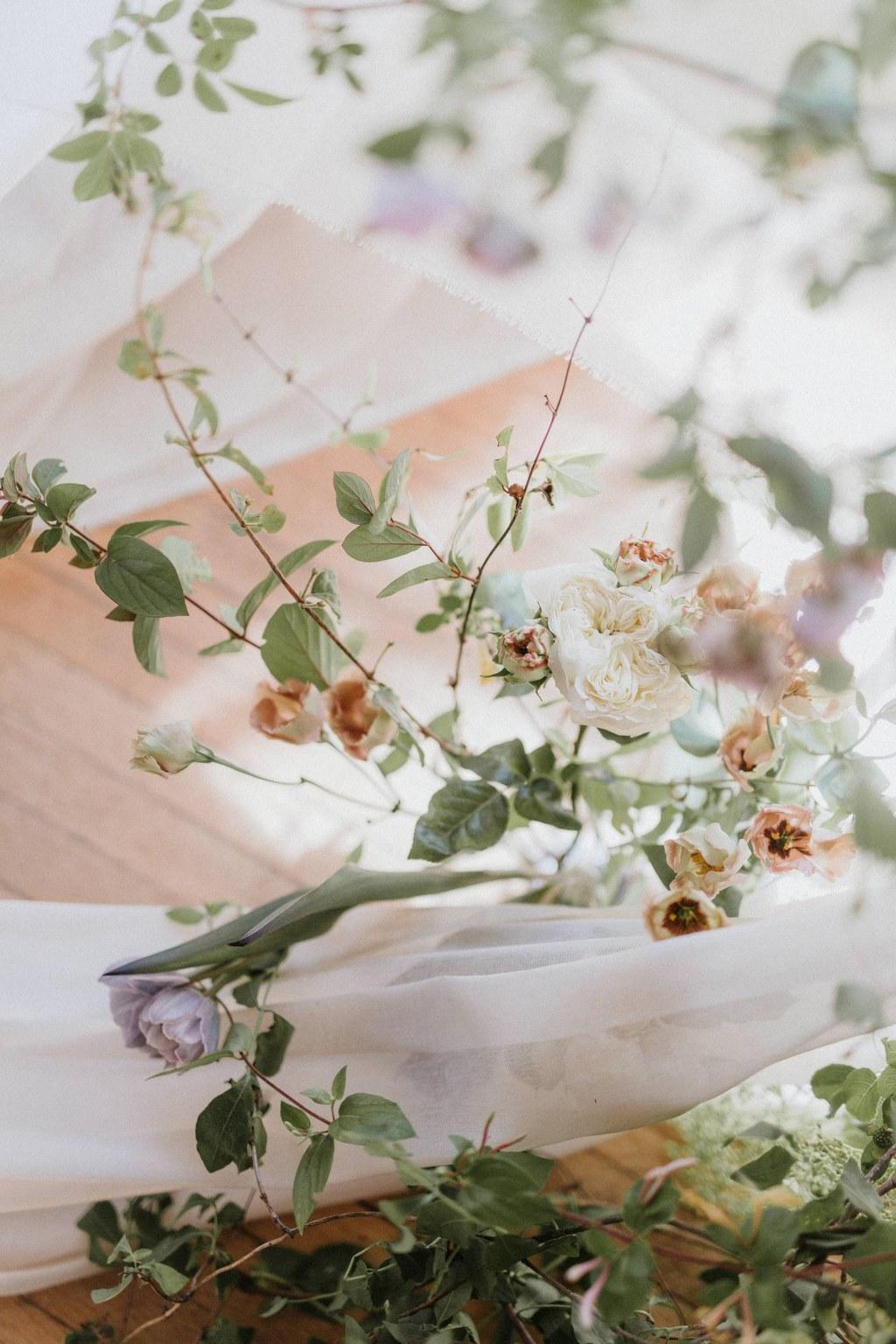 decor de mariage romantique chic ecoresponsable