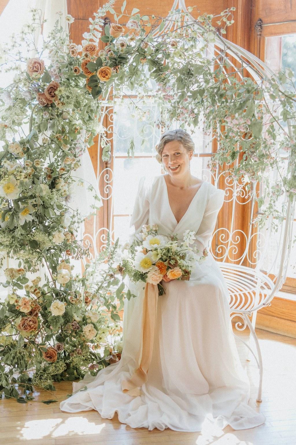 decor de ceremonie mariage romantique chic