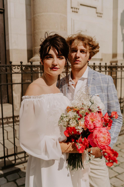 bouquet de mariee moderne decoration florale mariage
