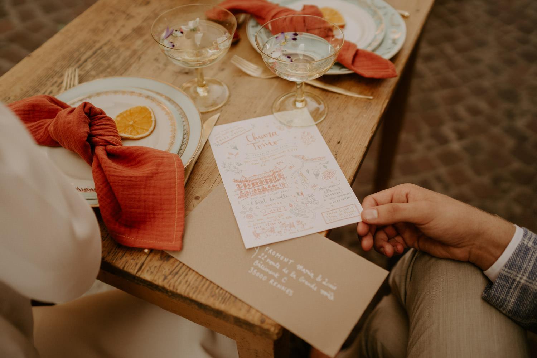 creation artisanal papeterie mariage faire part nantes