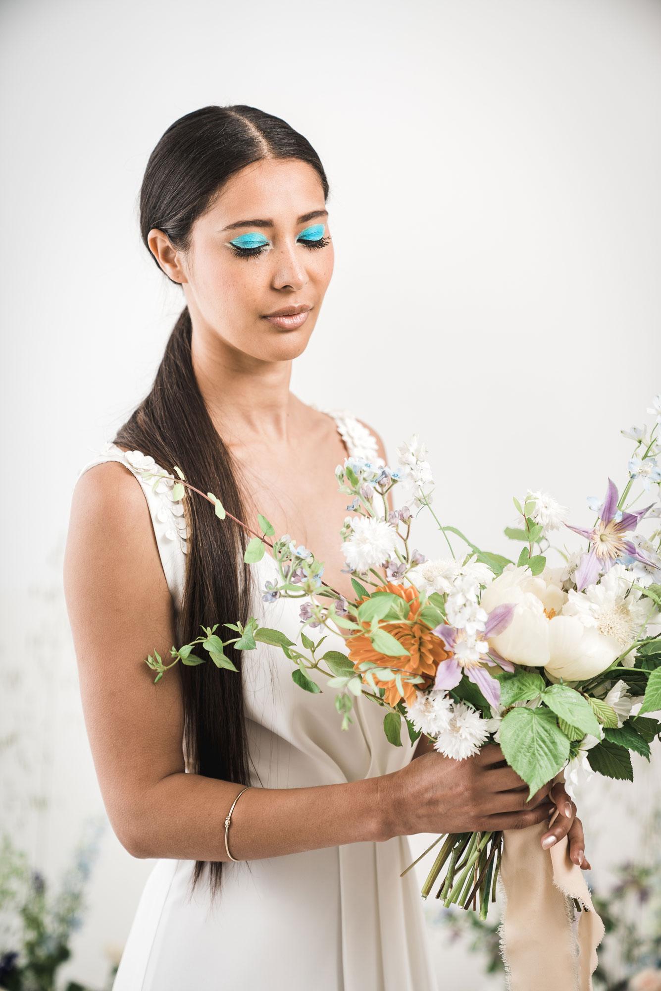 bouquet de mariee sauvage moderne pastels