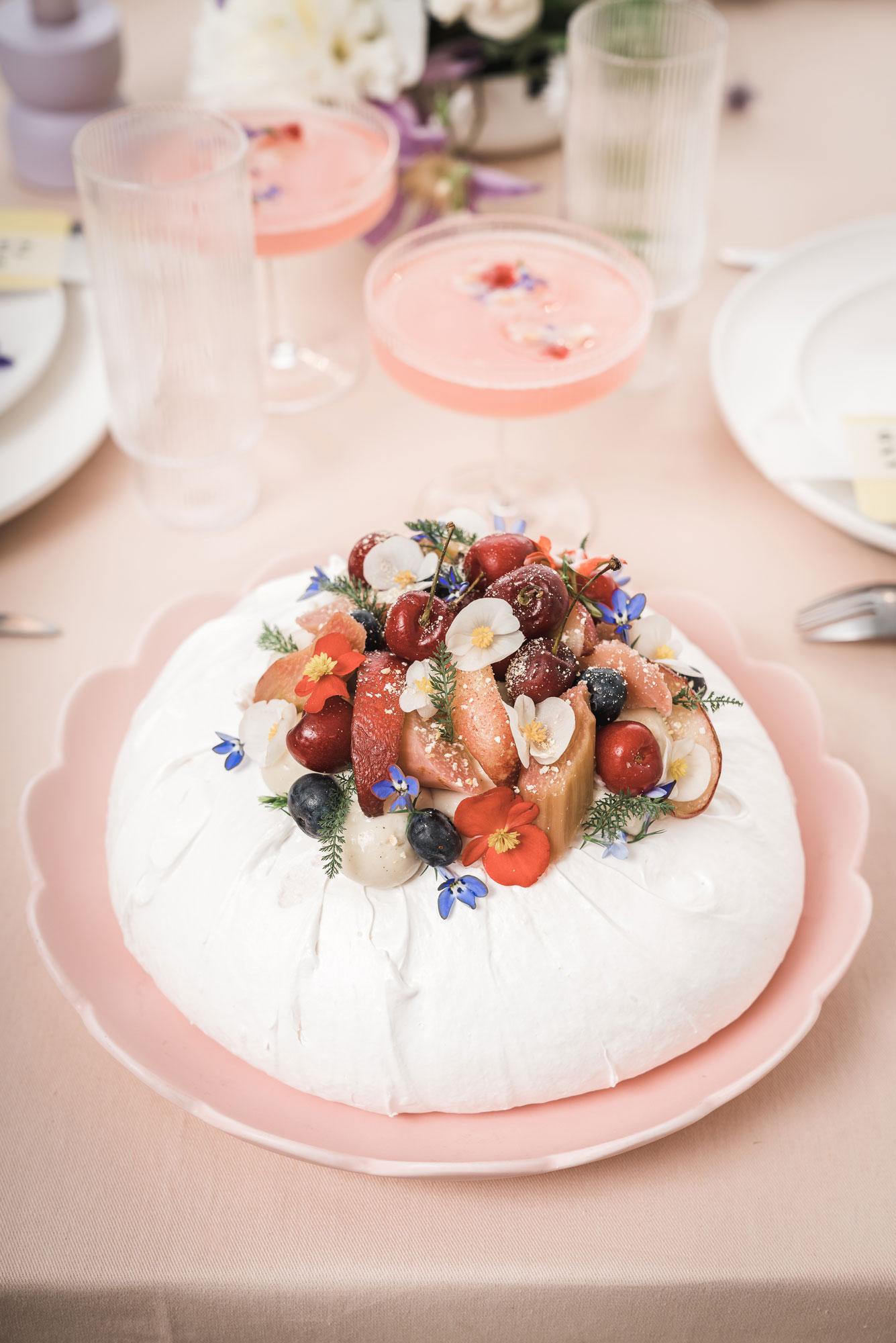 gateau mariage fruits
