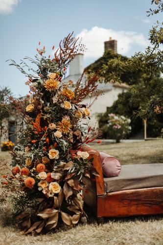 arche fleurie fleurs mariage boheme nantes vendee