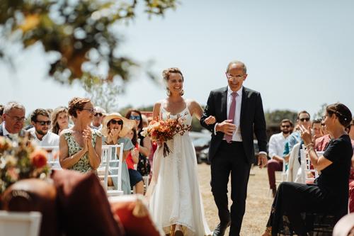 Mariage boheme campestre terra cotta vendee