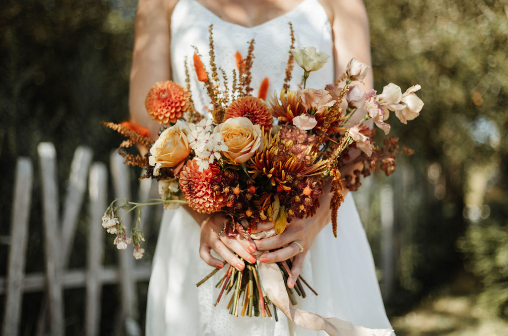 bouquet de mariee ecoresponsable boheme fleuriste vendee pays de la loire