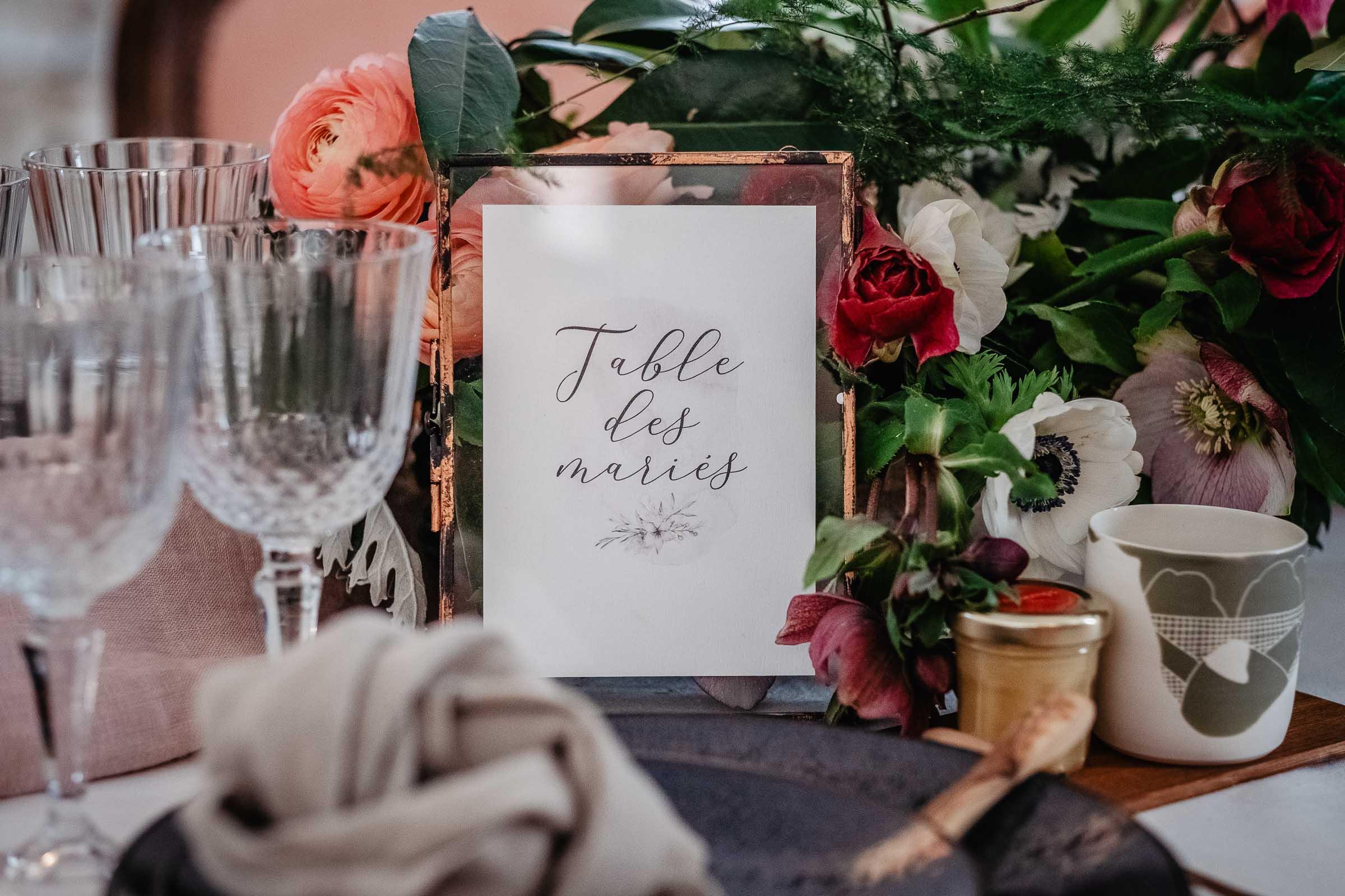 papeterie faire part mariage hivernal