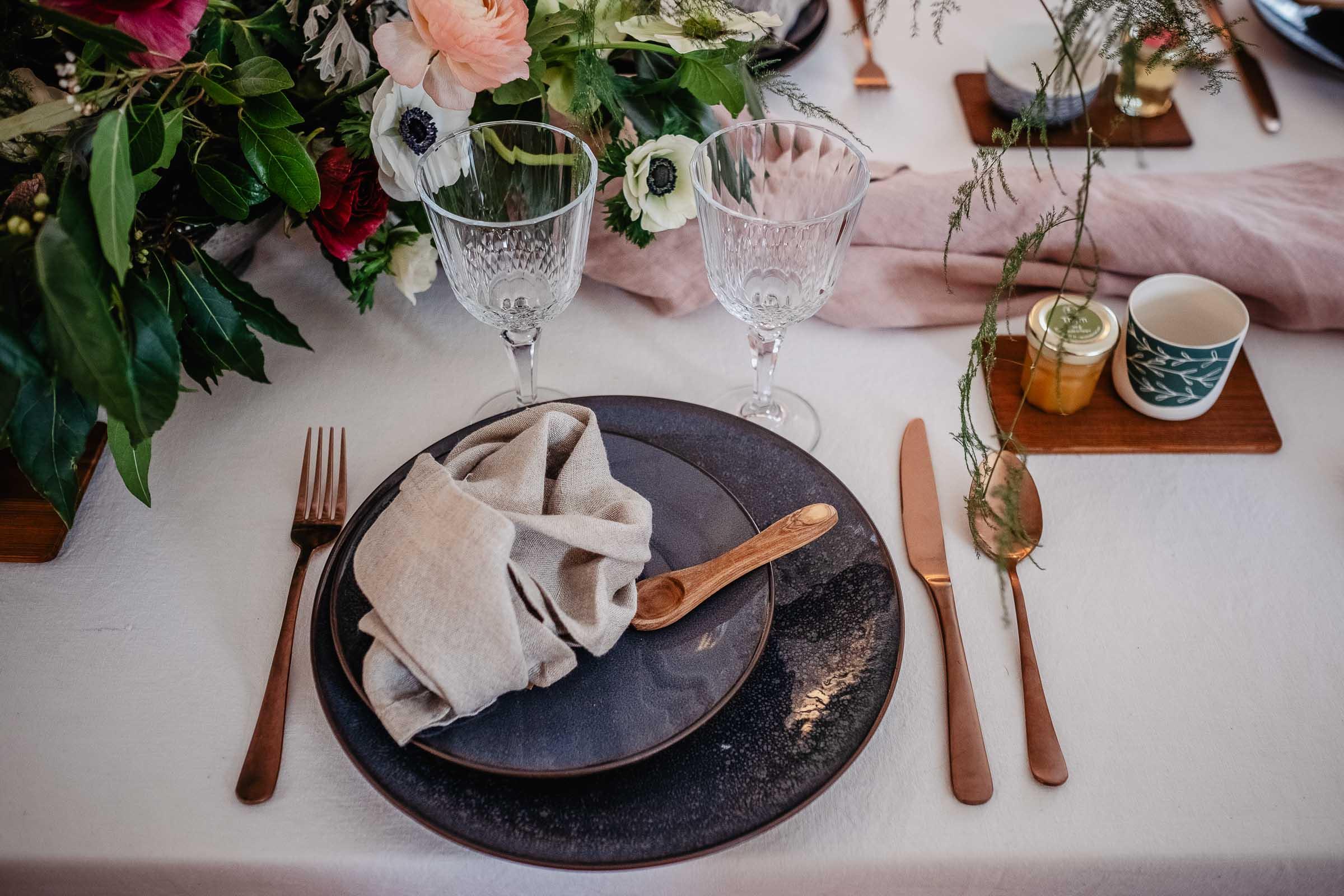 decoration vaisselle deco location mariage hiver nantes rennes