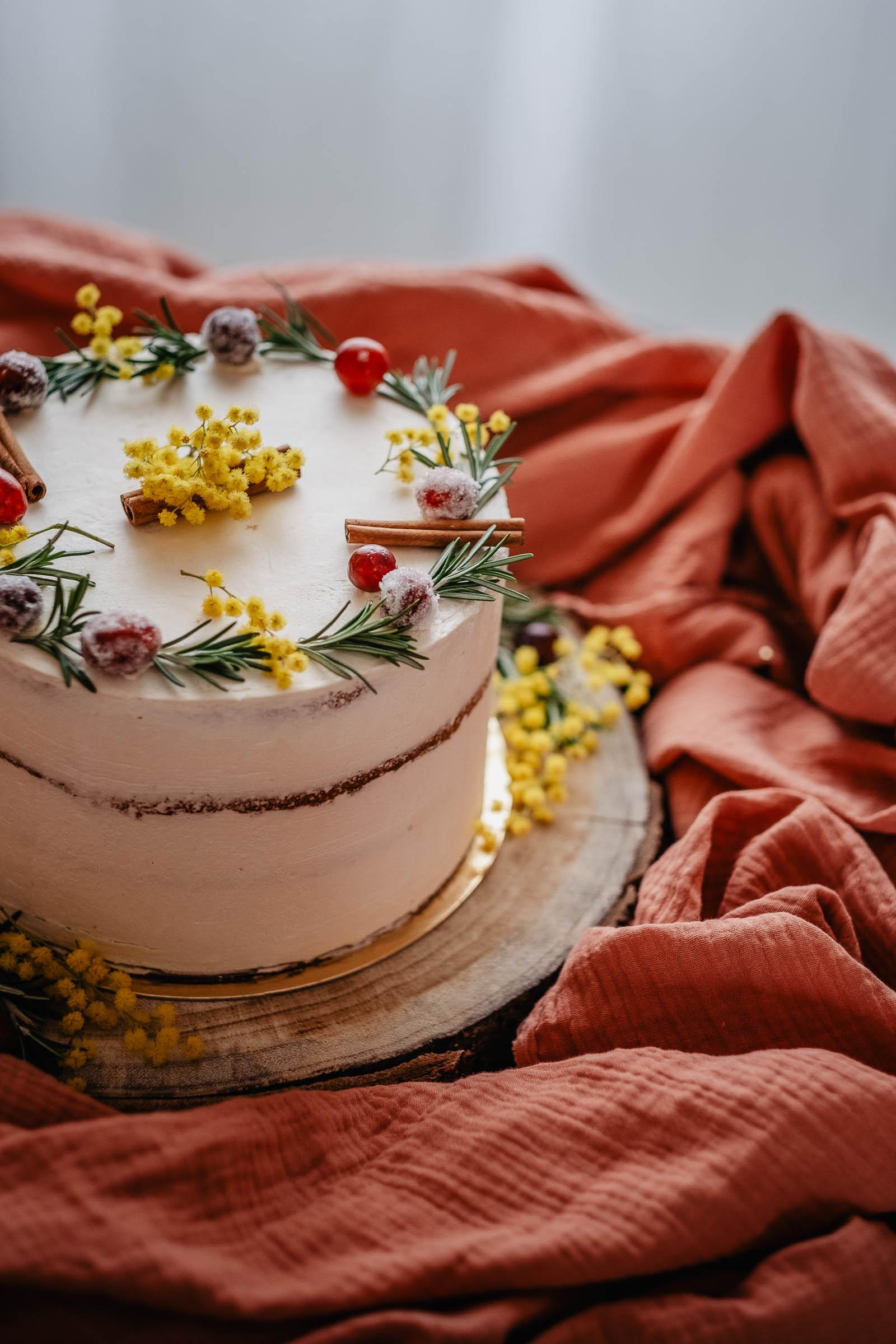 gâteau mariage hivernal