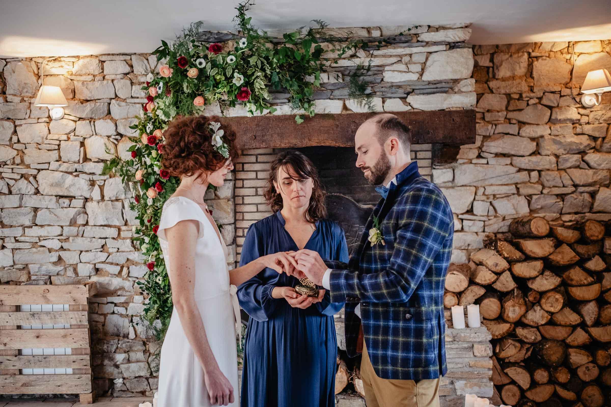 ceremonie laique mariage hiver