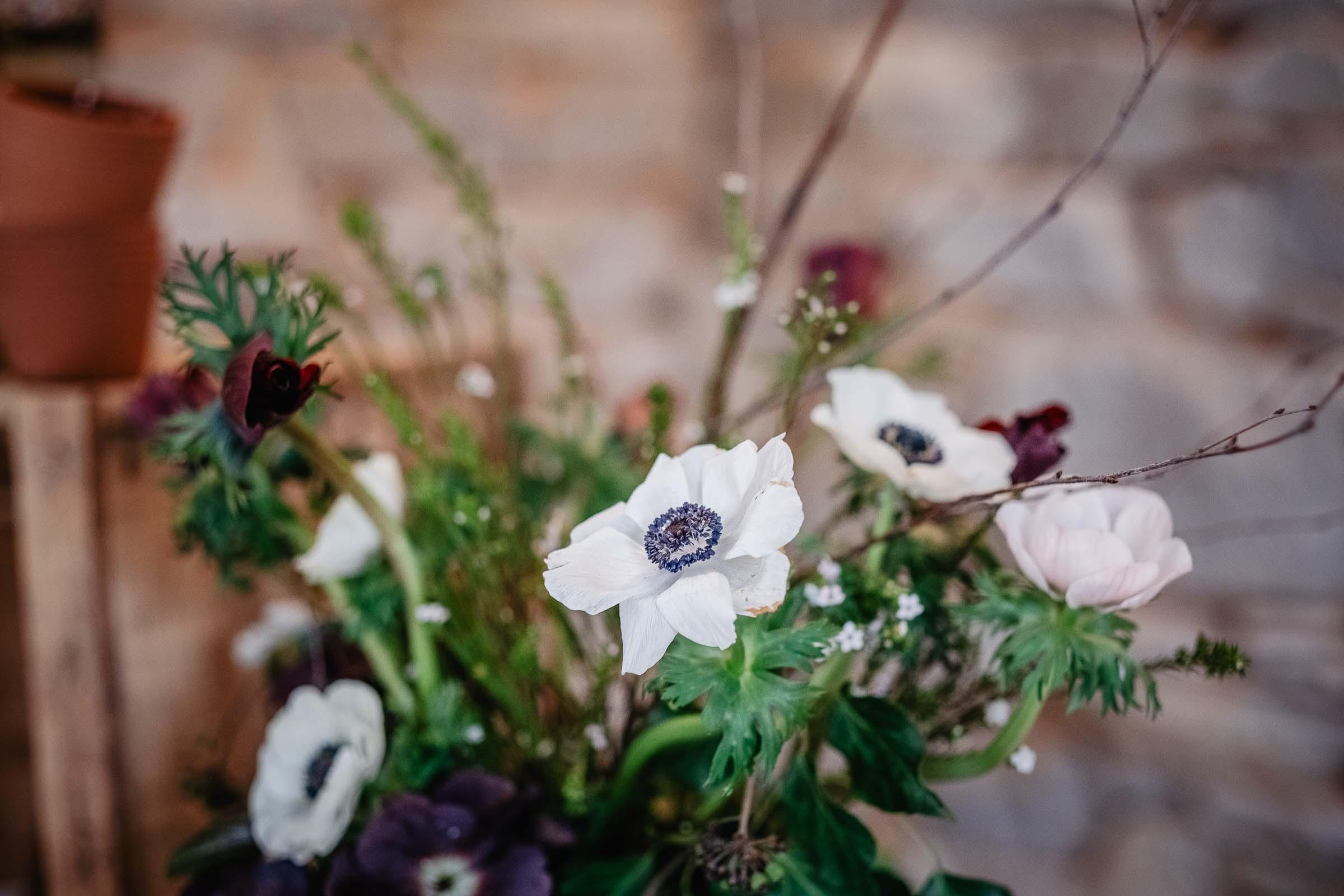 fleurs mariage hivernal