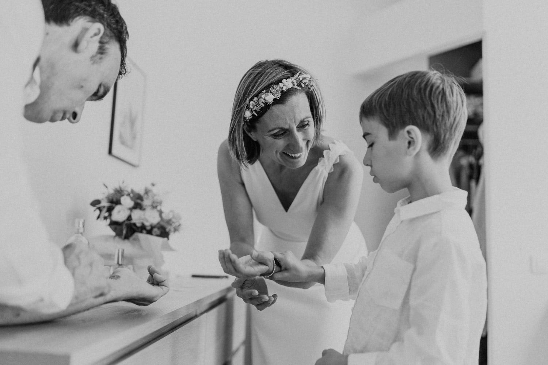 couronne de fleurs séchées mariage morbihan