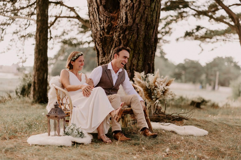 sieges ceremonie laique mariage boheme naturel morbihan