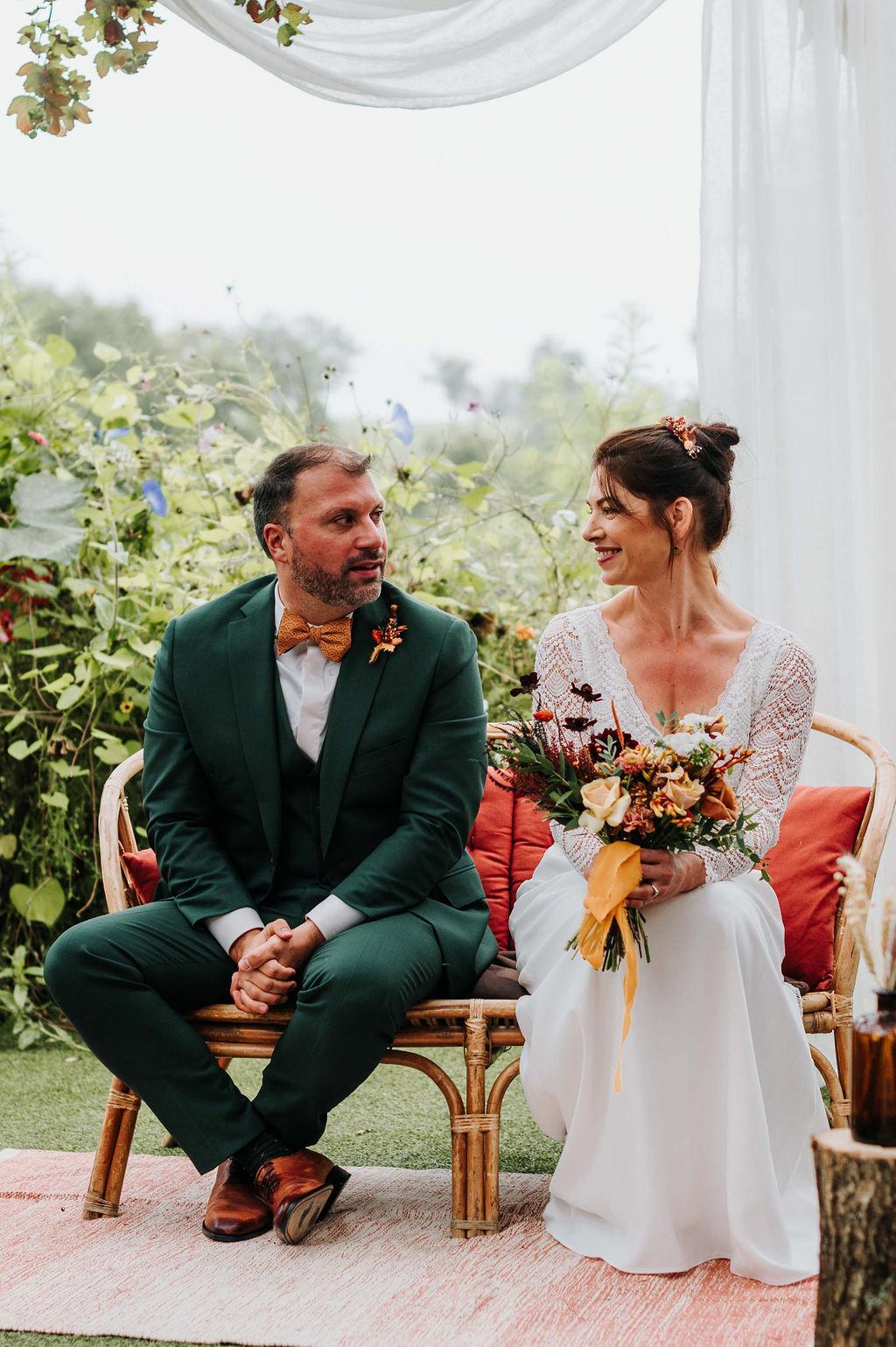 ceremonie laique mariage moderne décoration florale vendee