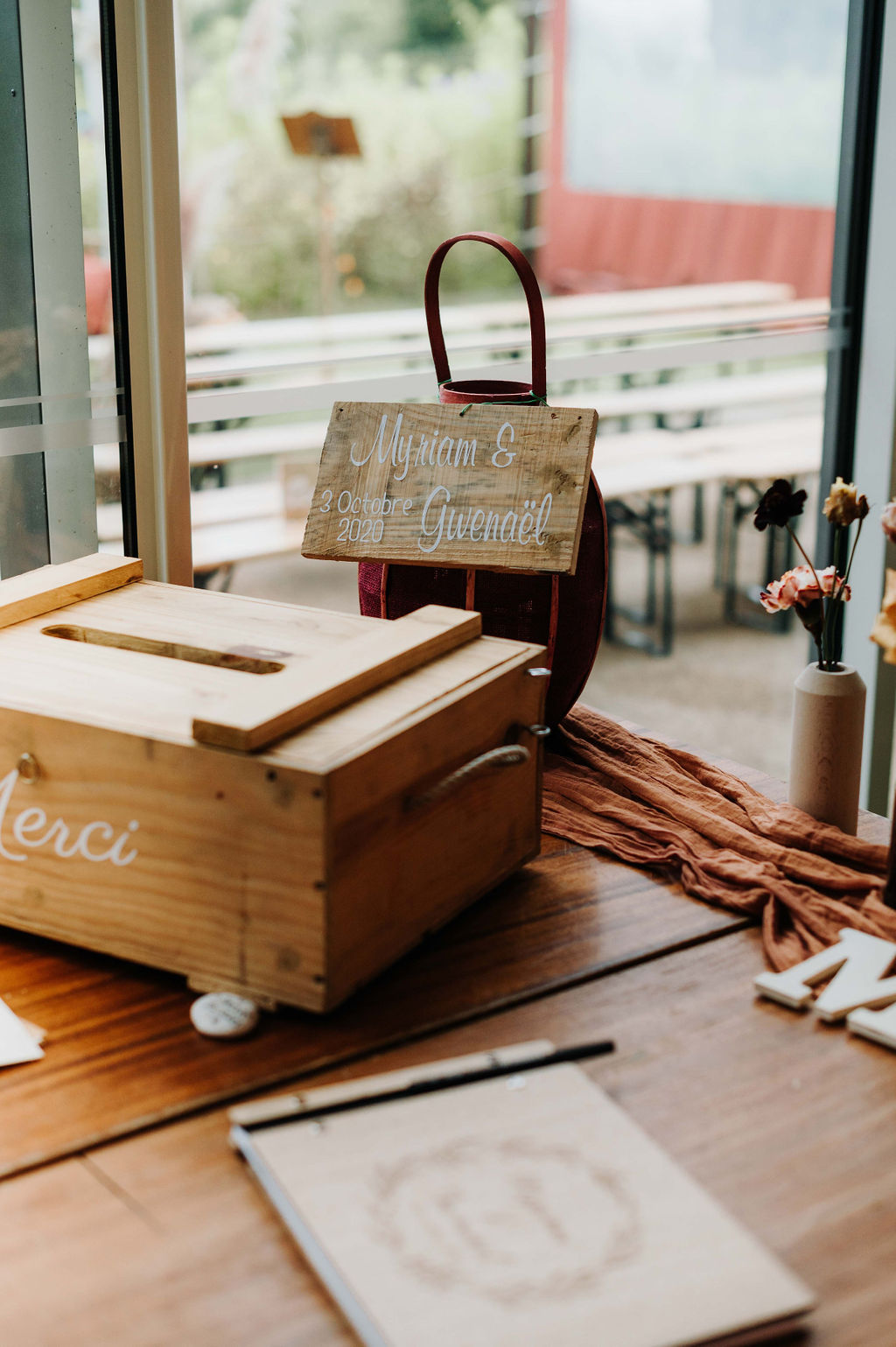 boite à cagnotte mariage vendee champetre