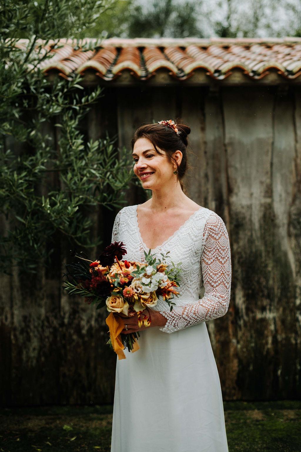 bouquet de mariée fleuriste vendee moderne