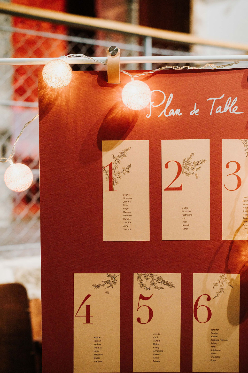 plan de tables mariage automnal vendee champetre