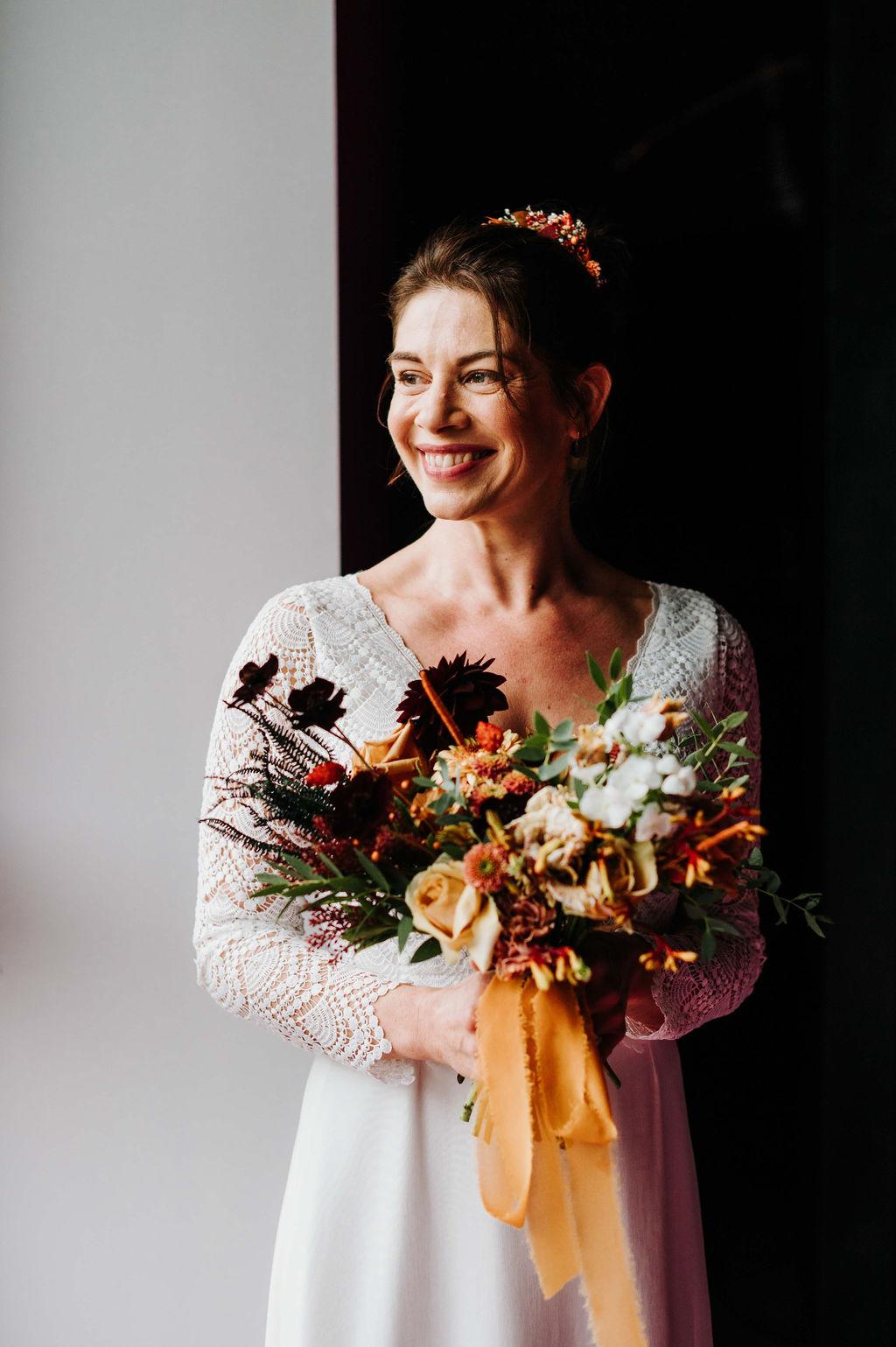 bouquet de mariee automnal fleuriste vendee