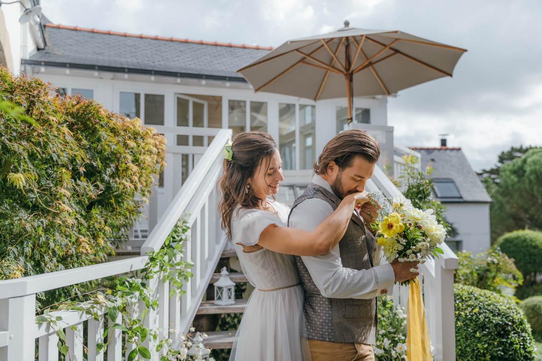 bouquet de mariee colore mariage bretagne