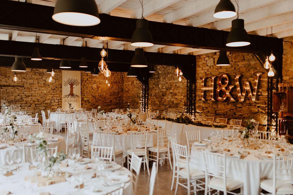 decoration salle mariage moderne bretagne