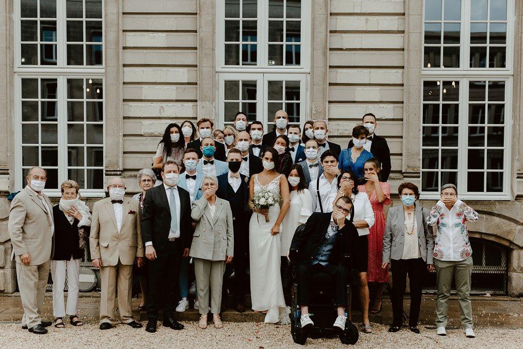 mariage civil comite reduit famille amis