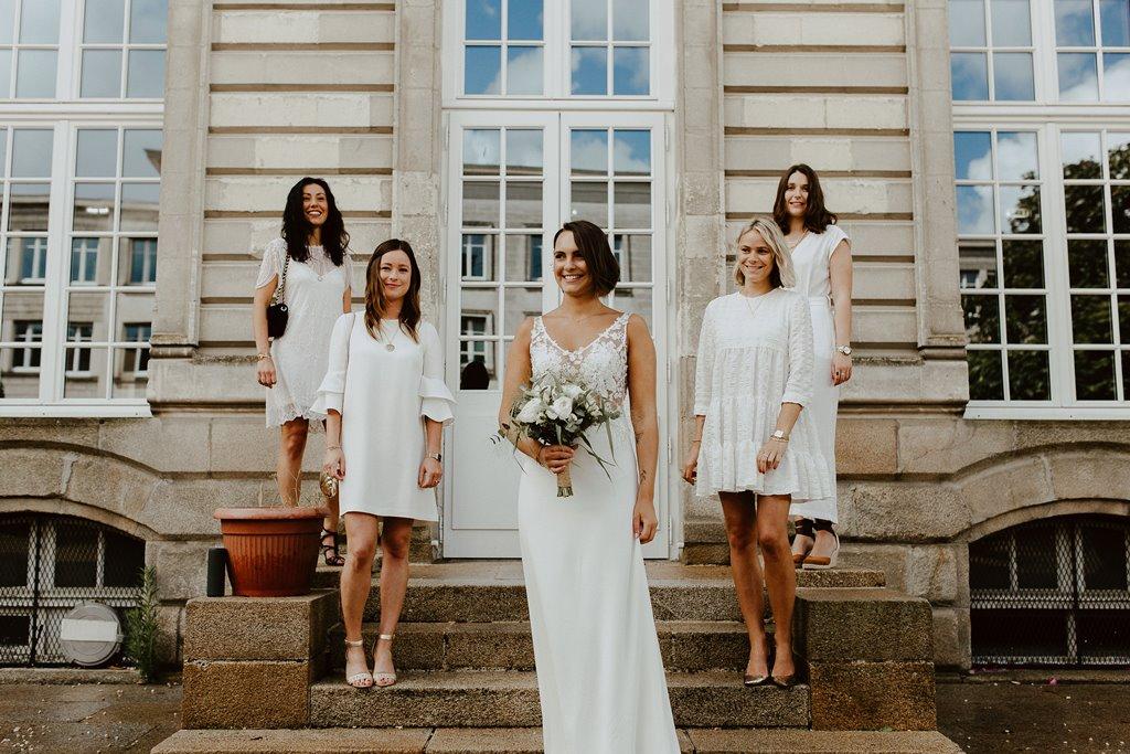 maries robe blanche dentelle temoins