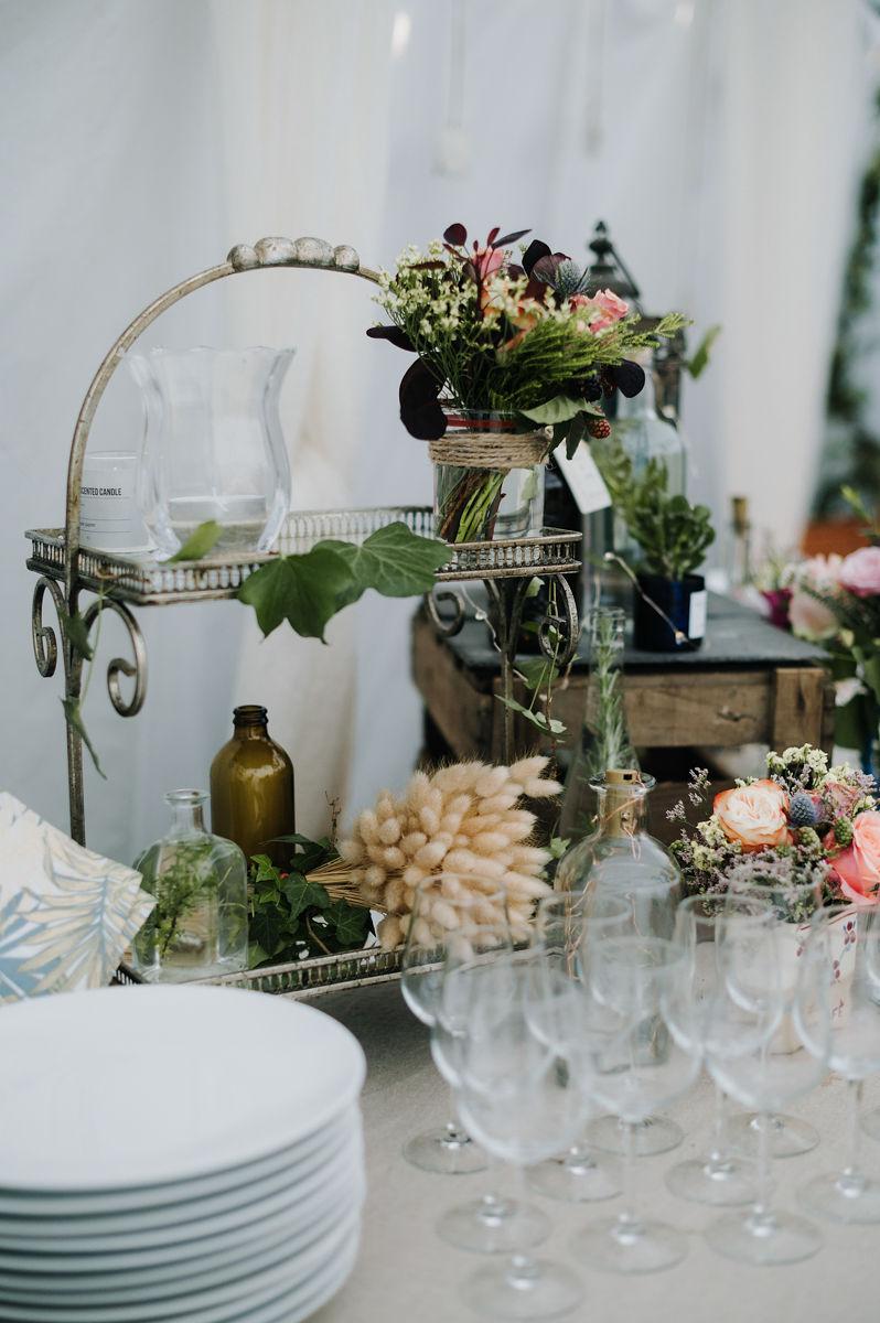 decoration florale buffet mariage