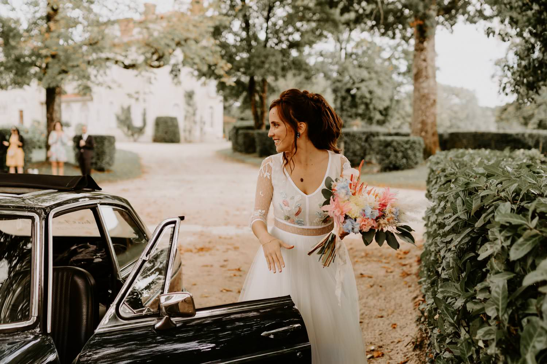 robe de mariee bouquet de mariage