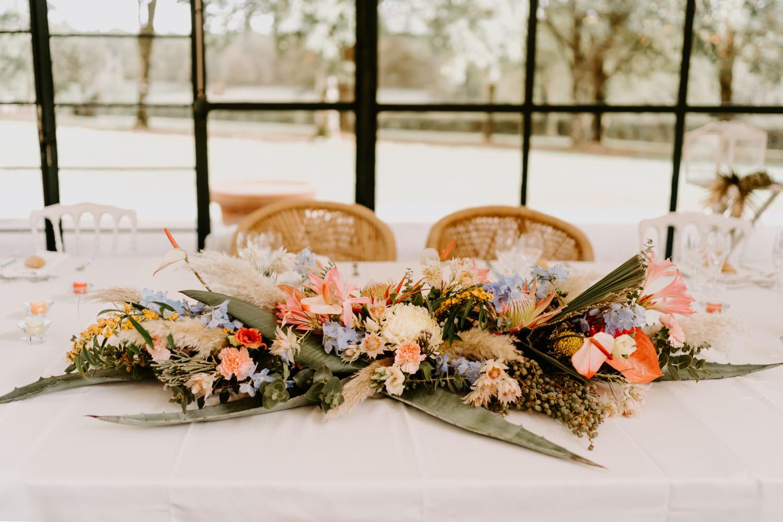 centre de table fleuri mariage nantes vendee