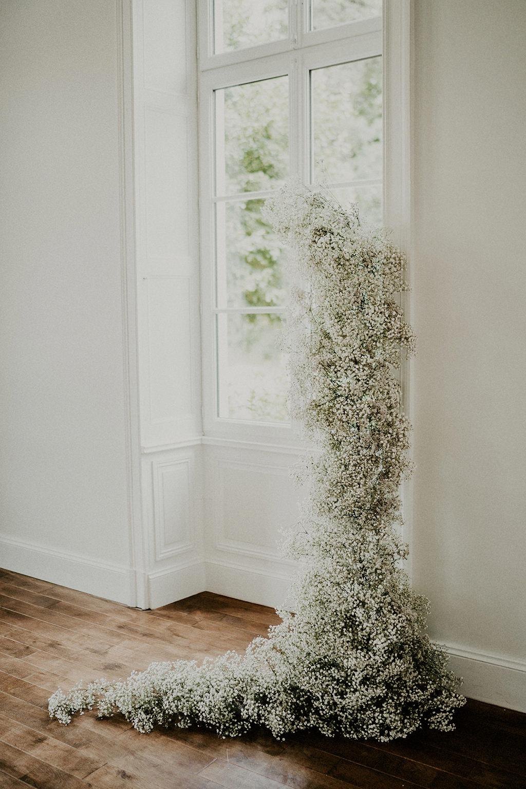 inspiration decoration florale mariage epure