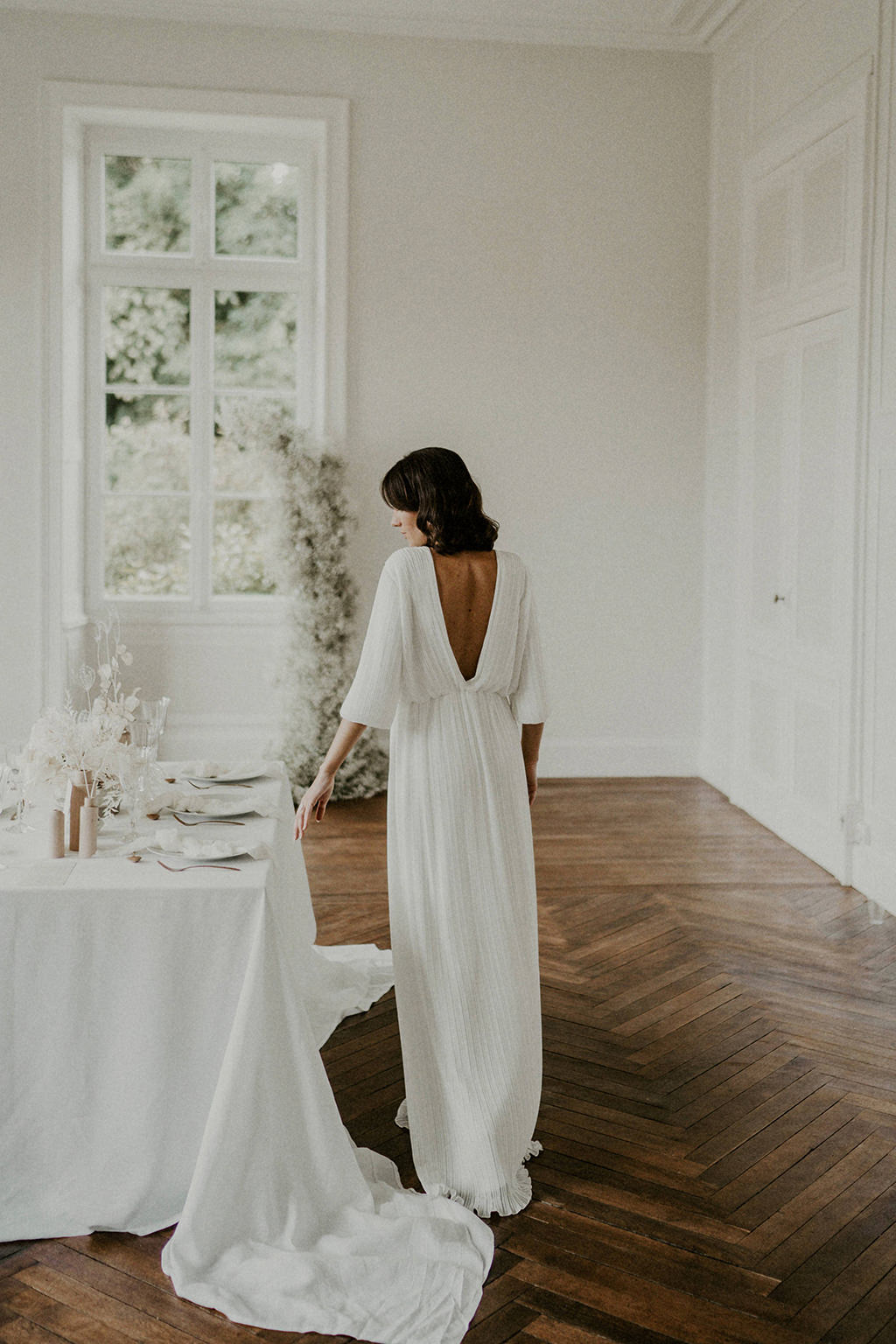robe de mariee blanche dentelle moderne