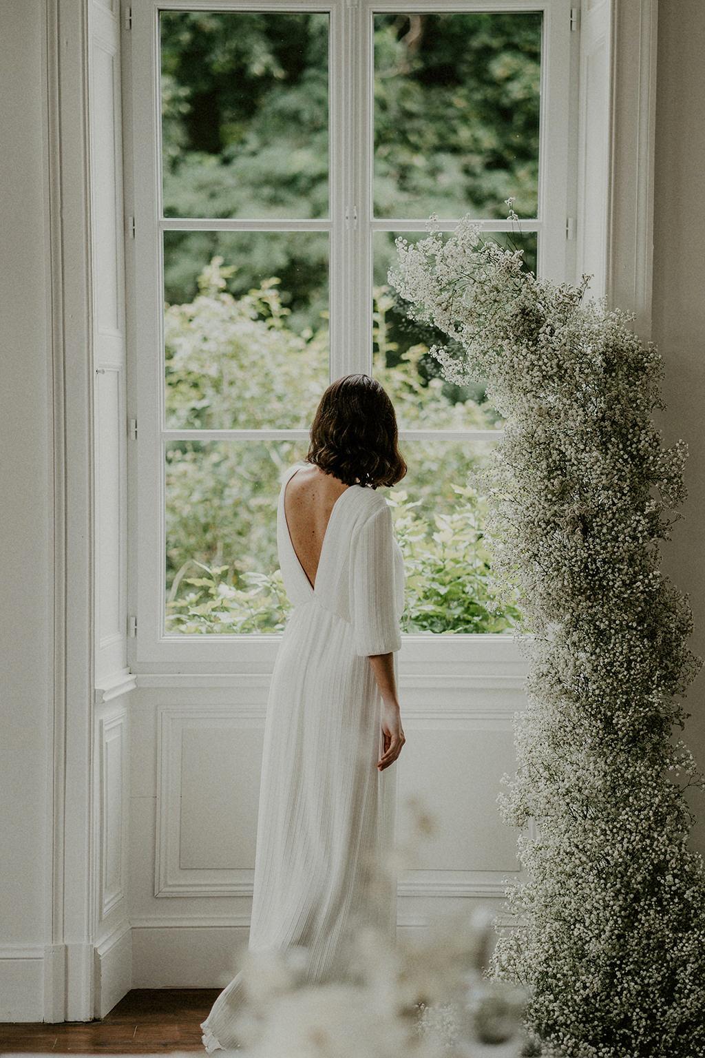 decoration florale robe de mariee mariage intimiste