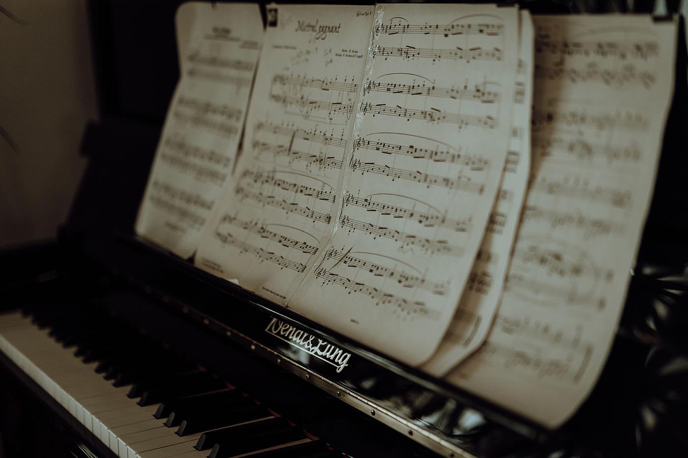 detials mariage piano partitions