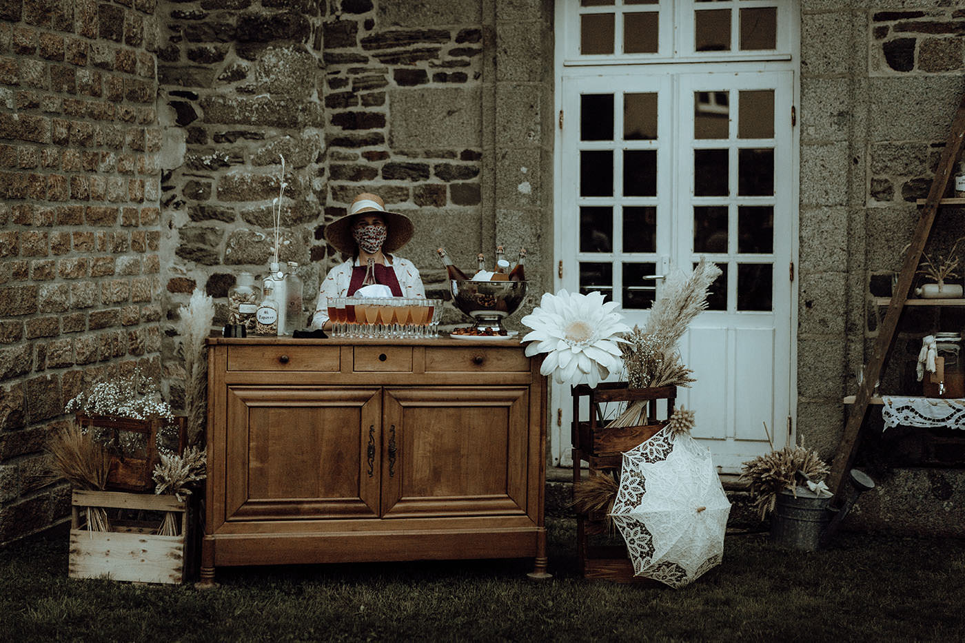 buffet mariage vintage chic