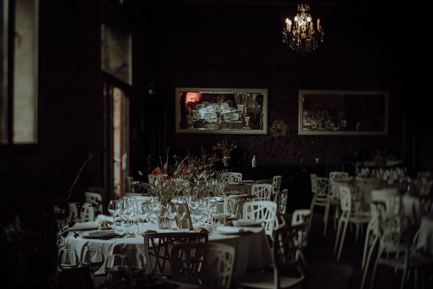 table des invites mariage vintage chic