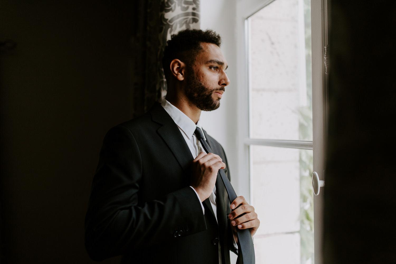 costume du marie noir simple nantes