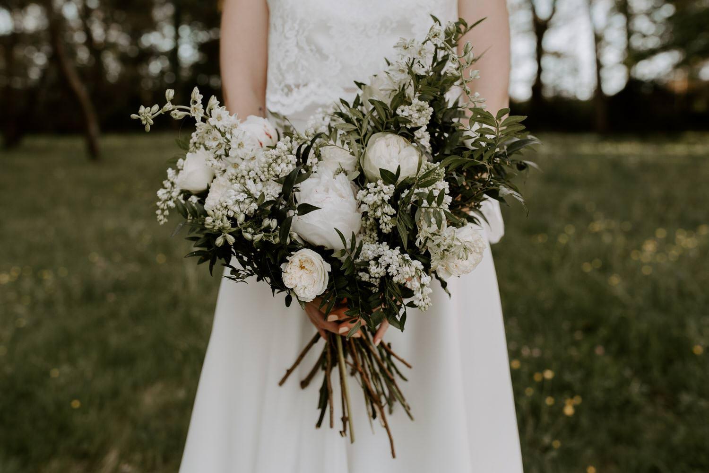 bouquet de fleurs mariee simple sauvage vendee