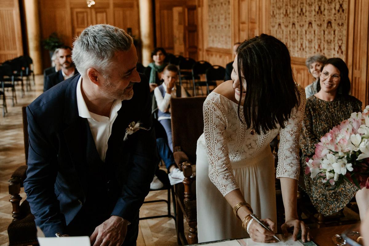ceremonie laique signature maries