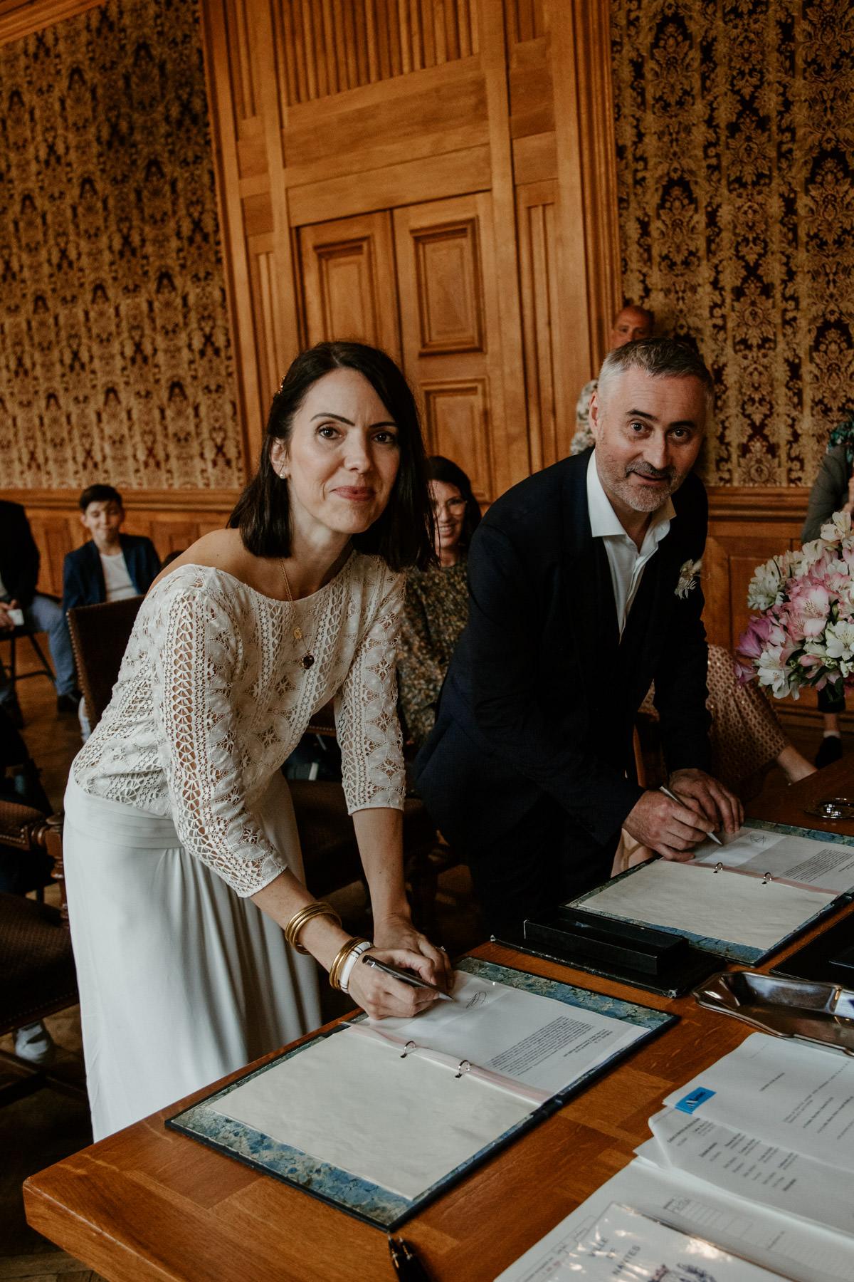 nantes ceremonie laique signature maries