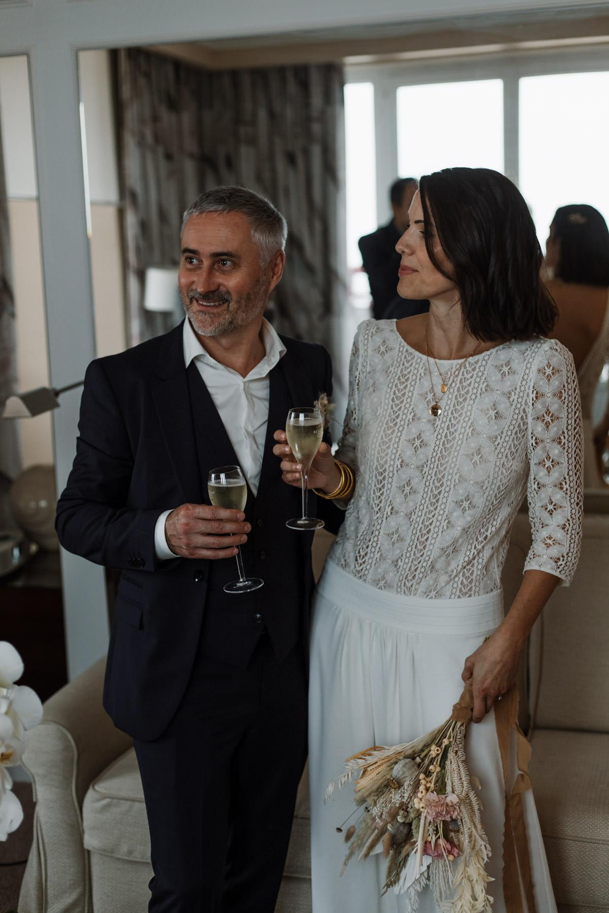 mariage nantes plage le croisic maries