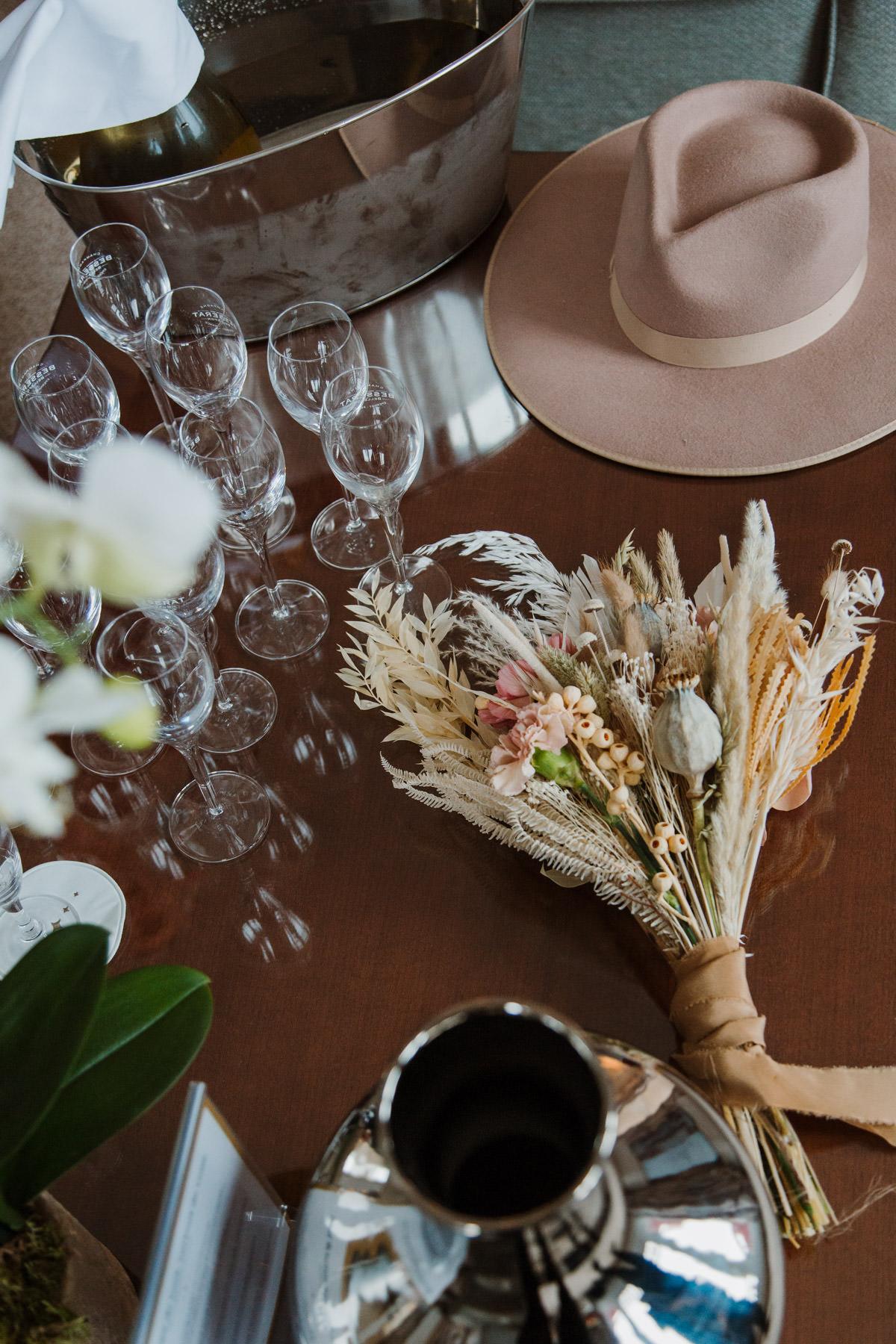 buffet bouquet de fleurs details