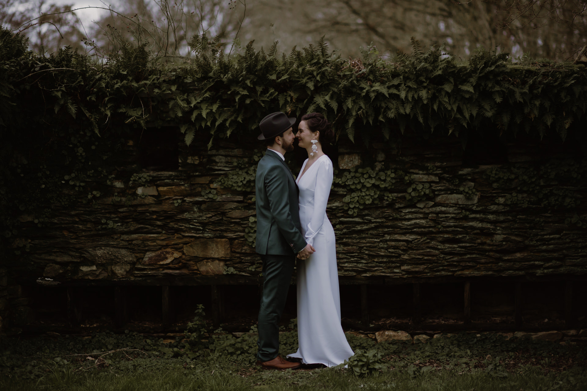 mariage hivernal amour tendresse bisous