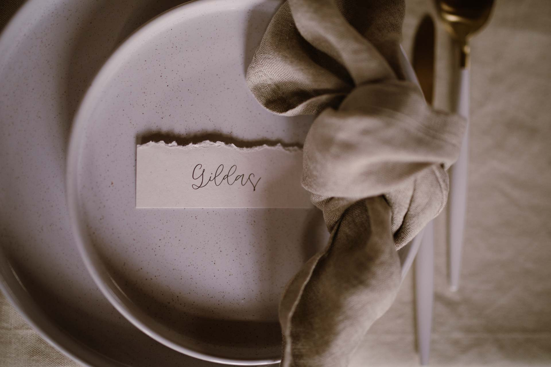vaiselle details mariage hivernal