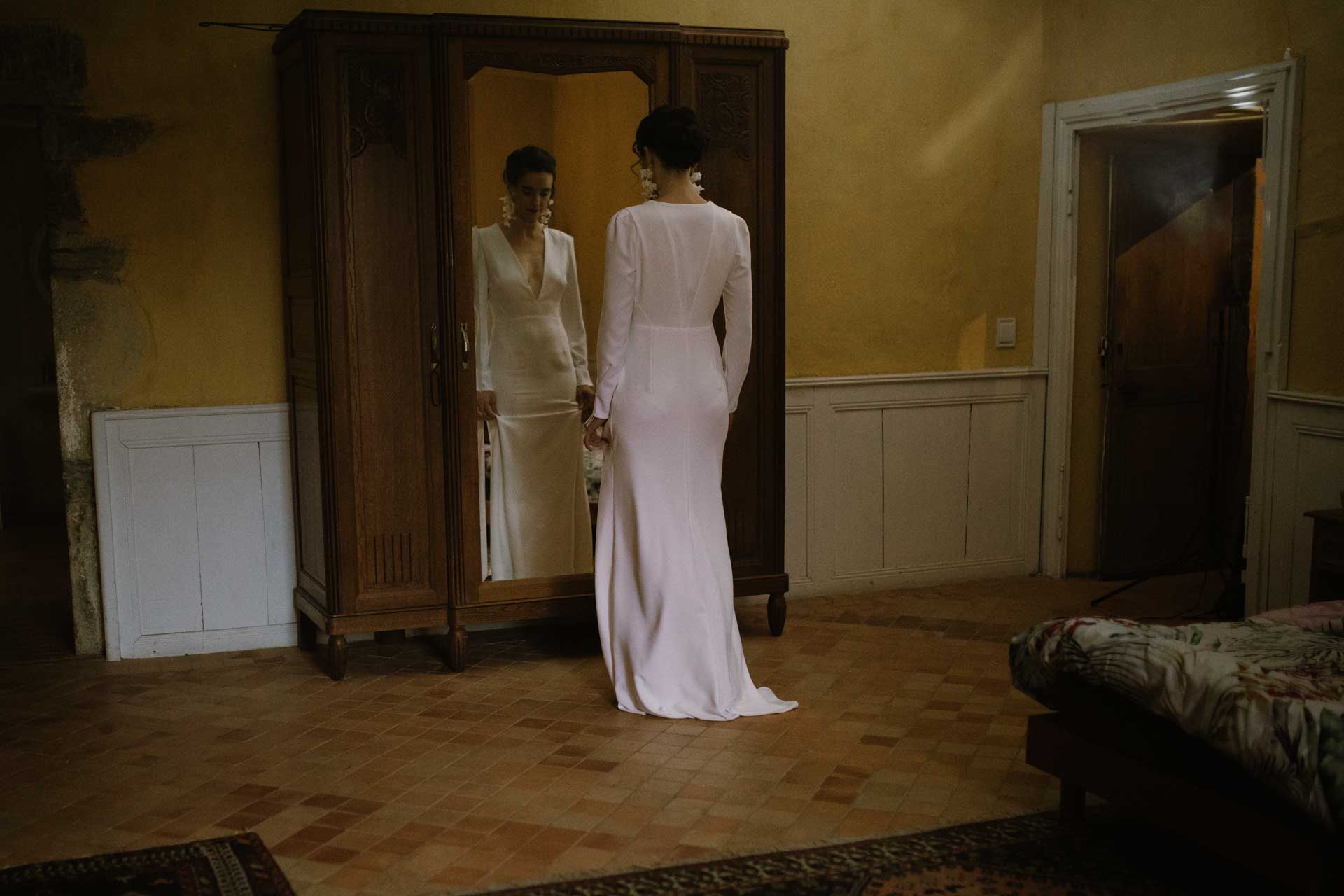 mariage hivernale robe de mariee blanche